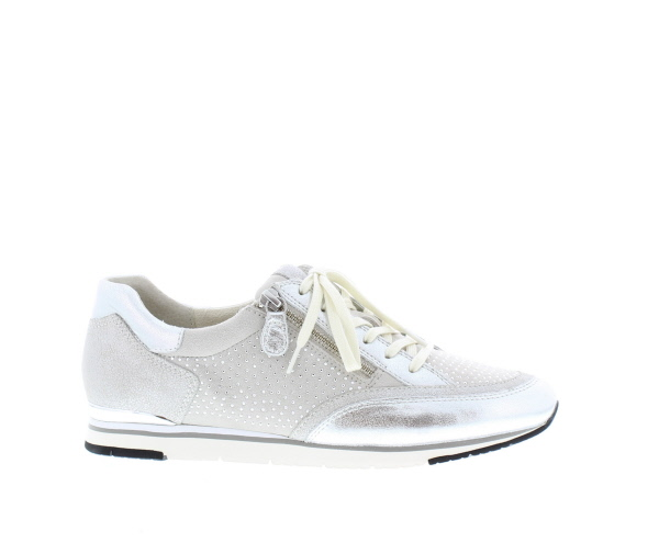 c22c44d705a Gabor zilvere sneakers 84-322-13 metal velour argento 1021-91-26