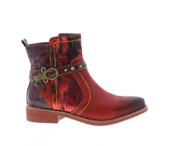 dames laarzen rood